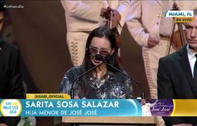 José José: Sarita estaba inconsolable en el homenaje