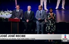 Se realizó el homenaje a José José en Miami donde sus hijos expresaron su sentir
