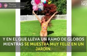 Thalía inicia la semana celebrando en traje de baño