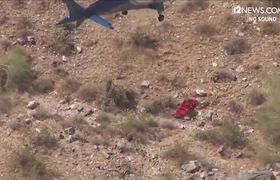 Phoenix AZ helicopter rescue 74 year old woman spinning out of control