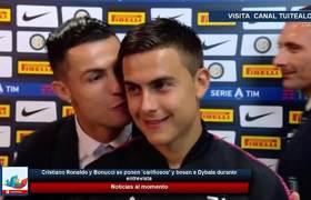 Cristiano Ronaldo y Bonucci se ponen 'cariñosos' y besan a Dybala