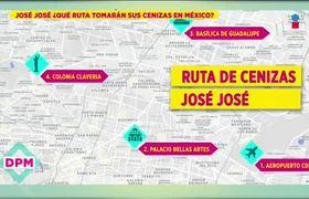Esta será la ruta de las cenizas de José José en México