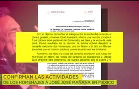 Este es el itinerario de actividades para los homenajes de José José en México
