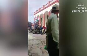 Amarran y arrastran a Edil en Chiapas