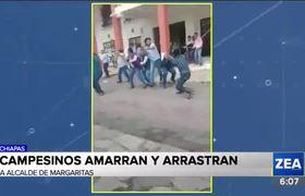 Habitantes de Santa Rita, Chiapas, amarran y arrastran al alcalde