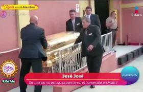 El cuerpo de José José no estuvo en el homenaje en Miami
