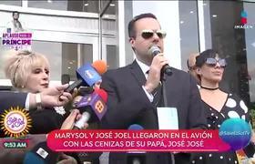 Palabras de José Joel al llegar con las cenizas de José José a México