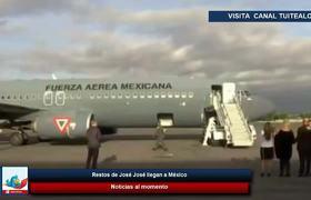 Restos de José José llegan a México hijos y cenizas son recibidos por Anel Noreña en el AICM