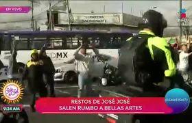 Restos de José José salen rumbo a Bellas Artes