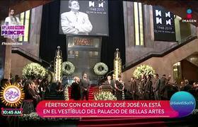 En medio de aplausos da inicio el homenaje a José José en Bellas Artes