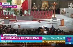 Inicia la misa de José José en la Basílica de Guadalupe
