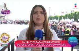 Fans de José José ya están en la Basílica de Guadalupe