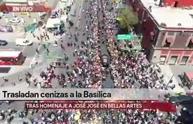 Trasladan cenizas de José José a la Basílica de Guadalupe
