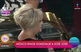 Con las golondrinas, Bellas Artes despide a José José
