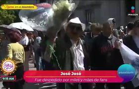 Así fue como los fans de José José le dieron el último adiós