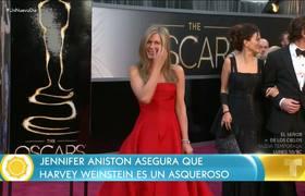 Jennifer Aniston calls Harvey Weinstein