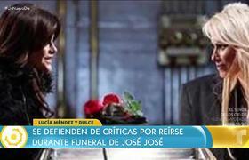 Critican risas de Lucía Méndez y Dulce en homenaje a José José