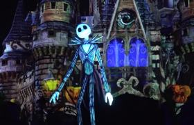 Disney's Not So Spooky Spectacular Halloween Fireworks Show - Front Row View of Jack Skellington