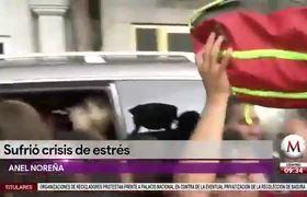 Anel Noreña sufre crisis nerviosa tras funeral de José José