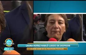 Laura Núñez se sintió 'de maravilla' tras cumplir última voluntad de José José.
