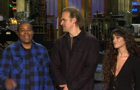 David Harbour Gets a Spanish Lesson from Camila Cabello #SNL