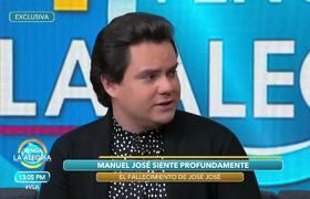 Manuel José, habla de la polémica desatada luego de la muerte de José José