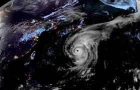 Typhoon Hagibis Seen From Space