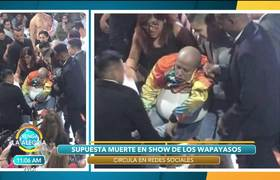 Los Wapayasos en medio de la polémica por presunta muerte en uno de sus shows