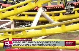 Juego mecánico accidentado en La Feria de Chapultepec no podía operar por falta de mantenimiento