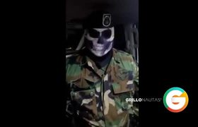 #VIDEO: Militar enmascarado lanza advertencia al C.O.