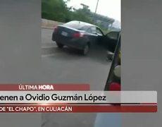 Detienen al hijo de 'El Chapo', Ovidio Guzmán, en Culiacán