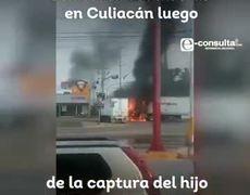 """Se desatan balaceras en Culiacán tras captura del hijo de """"El Chapo"""""""