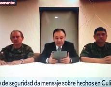 Gabinete de seguridad revela que suspendieron actividades y dejan libre a hijo de El Chapo
