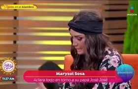 Marysol Sosa aclara polémica sobre el fallecimiento de José José