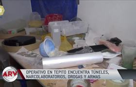 Descubren túneles con narco laboratorios, toneladas de drogas y armas en Tepito