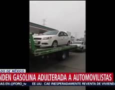 Venden gasolina adulterada, decenas de carros se quedan varado