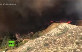 #VIDEO: See the fires in California as the pilot of a helicopter