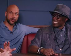 Wesley Snipes and Keegan-Michael Key of Dolemite in the Corner Booth #Netflix