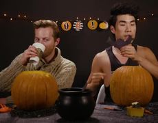 The Try Guys: Carving Each Other's Faces On To Pumpkins