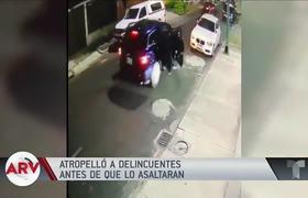 Hombre atropella a delincuentes antes de que asaltaran su casa