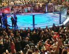 UFC 244 President Donald Trump enters Madison Square Garden New York November 2, 2019