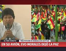 This is how #EvoMorales announced his resignation from the presidency of Bolivia