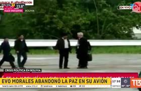 Evo Morales presents his resignation and leaves La Paz