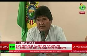 Evo Morales renuncia: