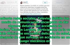 Lucero pide oraciones por niña de #LaVozKids 2019 que sufrió grave accidente