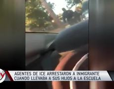 ICE arrests a Mexican immigrant when he left his children at school