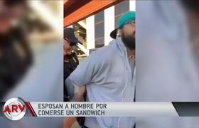 Captan el arresto de un hombre afroamericano por comerse un sándwich