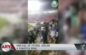 Soccer fans attack a woman who leaked into a team rostrum