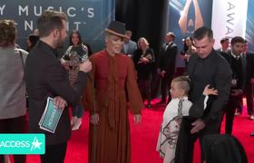 Pink's Kids Steal The Show In Cute Country Attire In This CMAs Interview!