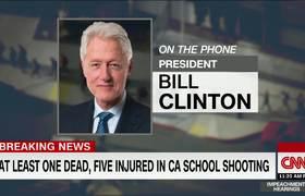 El mensaje de Bill Clinton a Trump tras tiroteo en California
